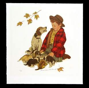 Norman Rockwell - Puppies