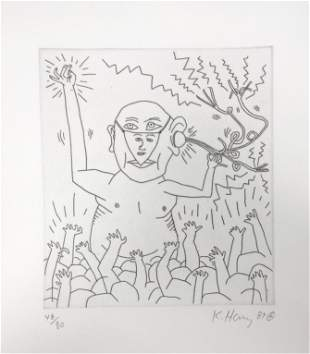 """Keith Haring - Untitled III from """"The Valley"""""""