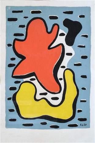 Fernand Leger - Composition jaune et rouge