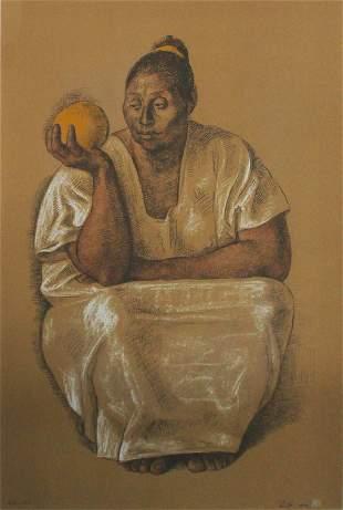 Francisco Zuniga - Mujer con Naranja