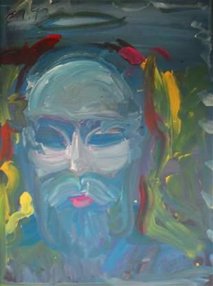 Peter Max - Bearded Man