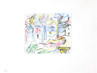 Roy Lichtenstein - Reclining Figures in Landscape