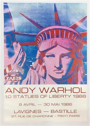 Andy Warhol - 10 Statues of Liberty