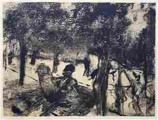 Edgar Degas (After) - Avenue du Bois de Boulogne