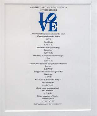 Robert Indiana - Love Poem Wherefore the punctuation of