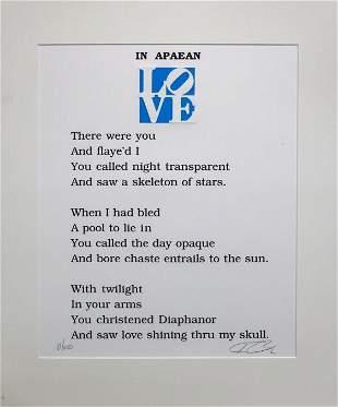 Robert Indiana - Love Poem In Apaean