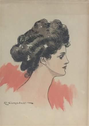 R. Campbell - Woman in Profile