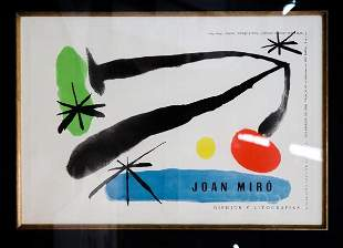 Joan Miro - Cover from Drawlings and Lithographs from