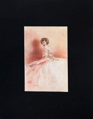 Louis Icart - Pink Shadow