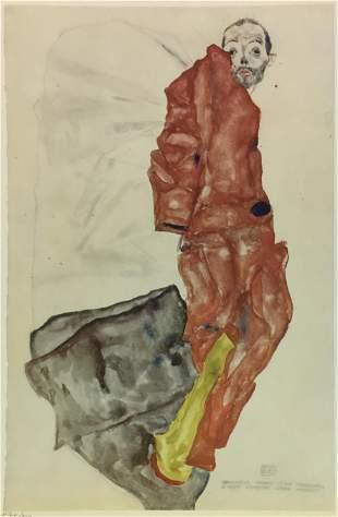 Egon Schiele (After) - Self Portrait as a Prisoner