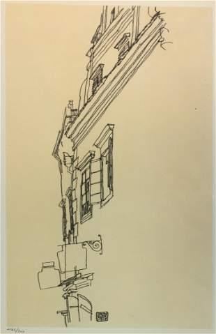 Egon Schiele (After) - Old Gabled Houses Krumau