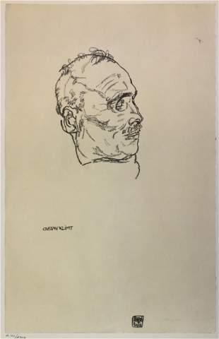 Egon Schiele (After) - Gustav Klimt on his Deathbed