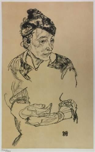 Egon Schiele (After) - Portrait of the Artist's Mother