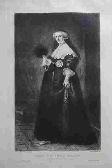 Rembrandt van Rijn (after) - Portrait de la femme de