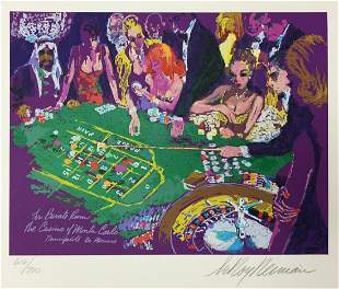 LeRoy Neiman - Salle Privee - Monte Carlo