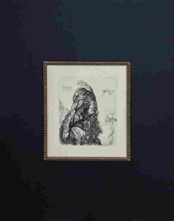 Rembrandt van Rijn (after) - The Third Oriental Head