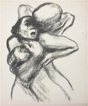 Kathe Kollwitz - Death Seizes a Woman