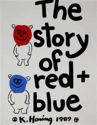 Keith Haring - The Story of Red and Blue (Portfolio