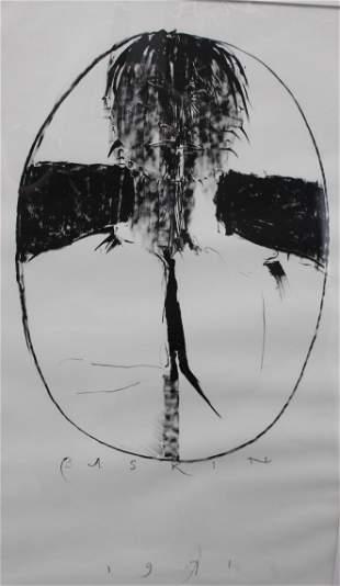 Leonard Baskin - Untitled (Self-Portrait)