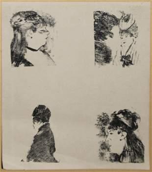 Edgar Degas - Tetes de Femmes