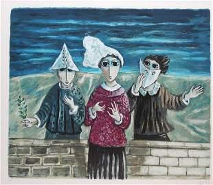 Yosl Bergner - Three Clowns