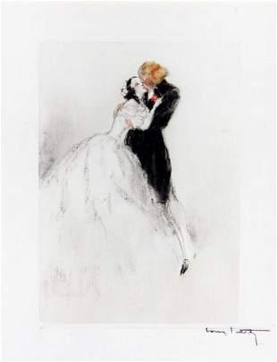Louis Icart - Sensual Embrace