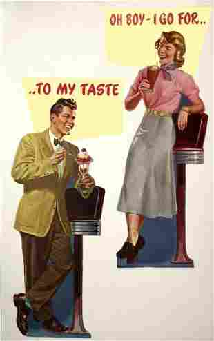 Vintage Poster - 1950's Ice Cream Advertisment