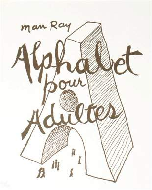 Man Ray - Alphabet for Adults (Cover)