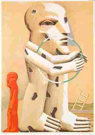 Horst Antes - Gefleckte Figur mit Reif