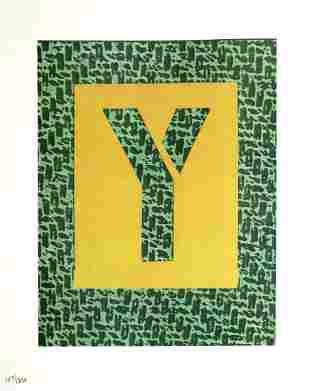 """David Hockney - Letter Y from """"Hockney"""