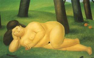 Fernando Botero (after) - The Reclining Woman