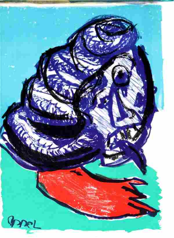 """Karel Appel - Untitled from """"One Cent Life"""""""