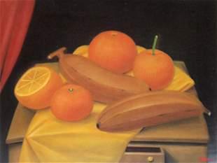 Fernando Botero (after) - Orange and Bananas