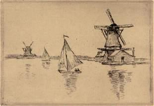 Armand Guillaumin - Les Moulins a Vent Sur Le Canal en