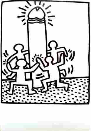 Keith Haring - Untitled Cock Dance (from Lucio Amelio