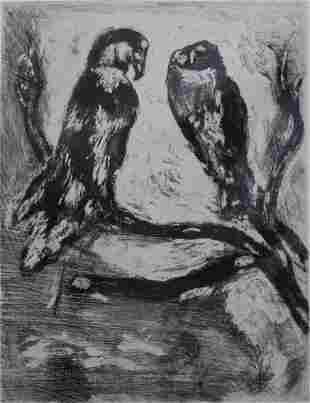 Marc Chagall - The Eagle and the Owl