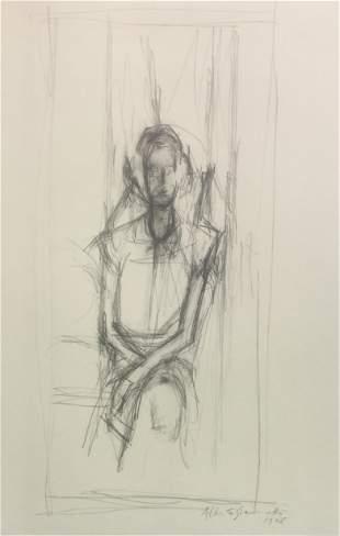 Alberto Giacometti - Figura Femminile Seduta