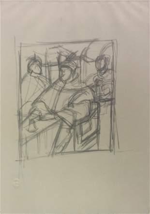 """Alberto Giacometti - Copia dal """"Ritratto di Leone X Con"""