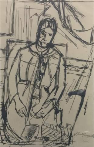 """Alberto Giacometti - Copia dal """"Ritratto di Madame"""