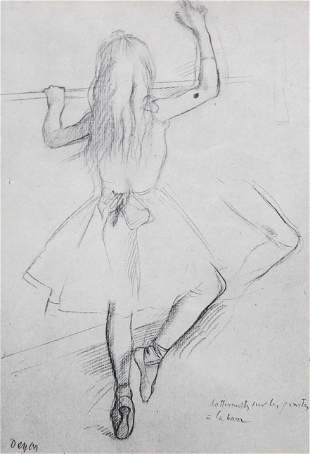 Edgar Degas (After) - Les pointes a la barre