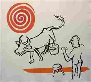 Alexander Calder - Untitled (Man Bull Spiral)