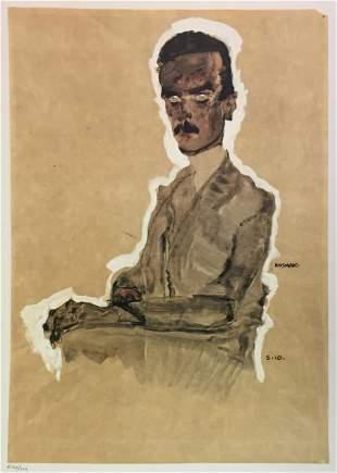 Egon Schiele (After) - Portrait of Edward Kosmack