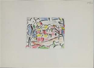 Roy Lichtenstein - Red Barn Through the Trees