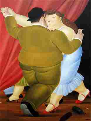 Fernando Botero (after) - Couple Dancing