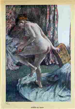 Edgar Degas (after) - Apres le bain