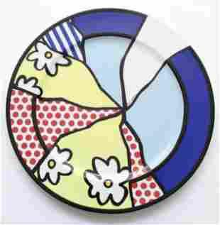 Roy Lichtenstein - Water Lillies Porcelain Plate