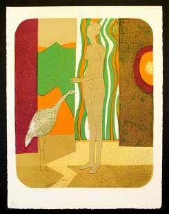 Andre Minaux - La femme et l'oiseau