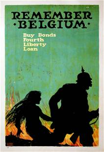 Vintage Poster - Remember Belgium Bonds Ad