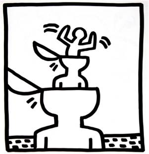 Keith Haring - Untitled (Inside Mind)