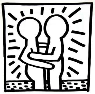 Keith Haring - Untitled (Hug)